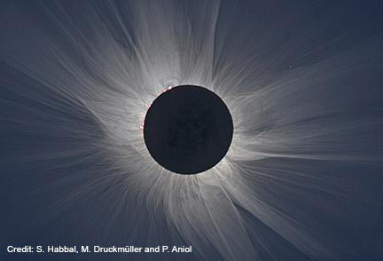 Total eclipse image taken March 20, 2015 at Svalbard, Norway.