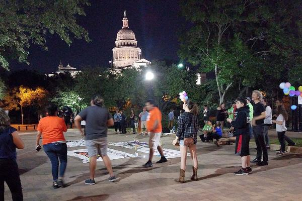 Protesters demonstrate at the Capitol after Gov. Greg Abbott signs Senate Bill 4, the so-called sanctuary cities bill.