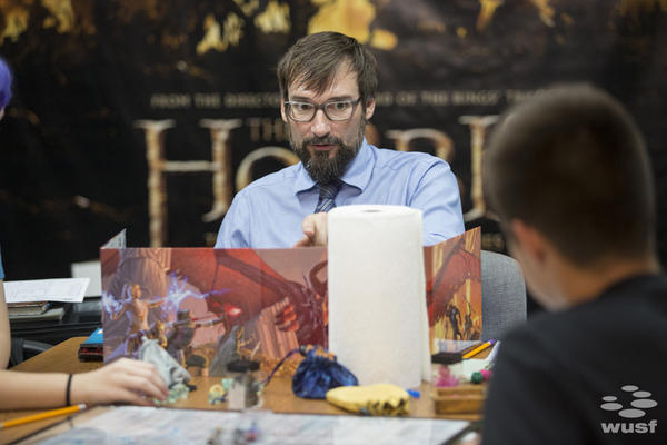 """Matt Fahy is a therapist, but during the game, his role is called the """"Dungeon Master."""" The DM guides players through a a pre-written adventure that changes with the players' decisions."""