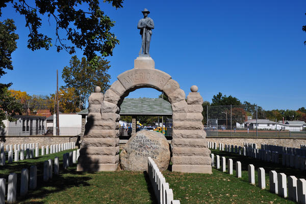 Camp Chase Confederate Cemetery is one of the largest Confederate monuments in Ohio.