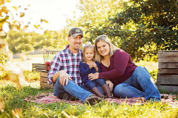 Farmer Mark Mathe and his family