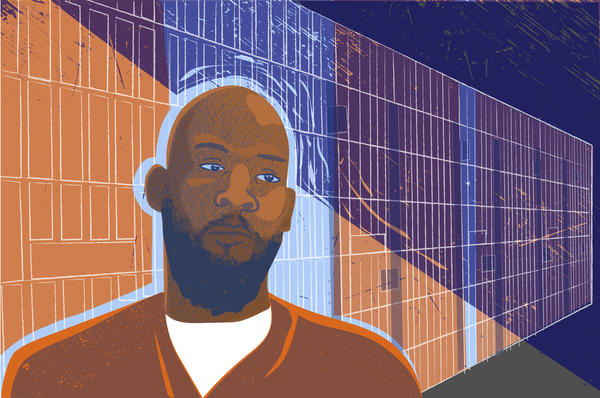 An illustration of Marcellus Williams, who received his second execution reprieve on Tuesday.
