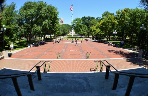"The land making up the ""Diag"" on the University of Michigan's main campus in Ann Arbor was donated by landowners hoping to lure the University to Ann Arbor, according to Tobin."