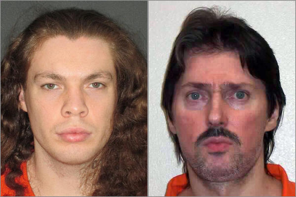Convicted murderers Charles Longshore, left, and Keith Closson have filed a federal civil rights complaint against the Washington Department of Corrections for requiring inmates in segregation units to share electric razors.