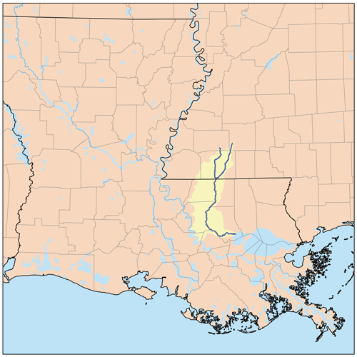Map of the Amite River Watershed