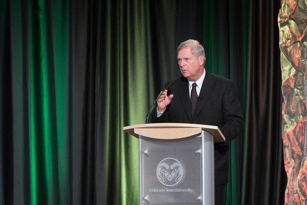 Former USDA Secretary Tom Vilsack made the comments following a speech at Colorado State University.