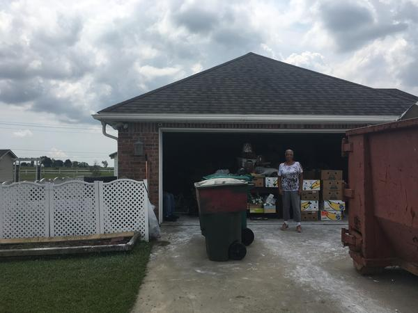 Linda Broussard lives in Clearfield Ranch, a little subdivision just south of Highway 210 on the outskirts of Lake Charles. She says her house took about a foot of water.