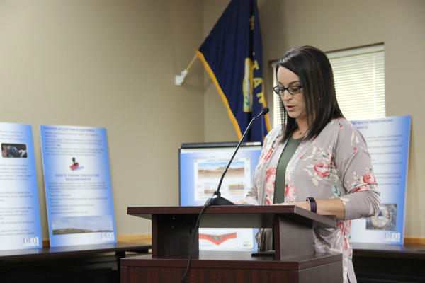Rachel Torres testifying on Thursday in Helena.