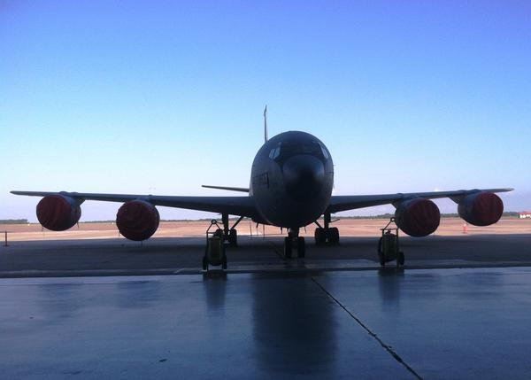 One of the KC-135 refueling tankers based at MacDill AFB