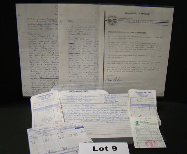 Items in an auction of Unabomber possessions