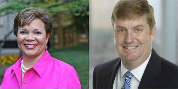 Democrat Vi Lyles (left) faces Republican Kenny Smith in the November election for Charlotte mayor.