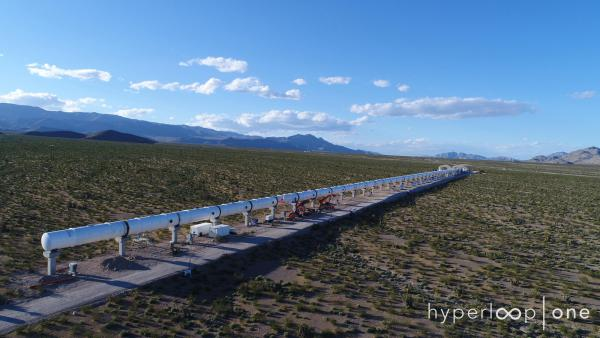 Finished 500m tube installation at DevLoop, in Nevada