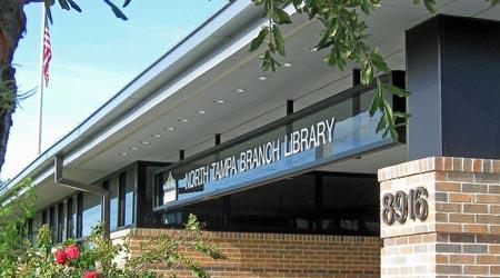 The North Tampa Branch Library, courtesy of the library.