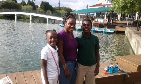 Zianna Oliphant enjoying an afternoon on the Boardwalk with her mom, Precious Oliphant and brother Marquise Oliphang