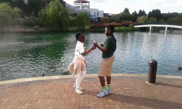 Zianna Oliphant with her brother Marquise Oliphant