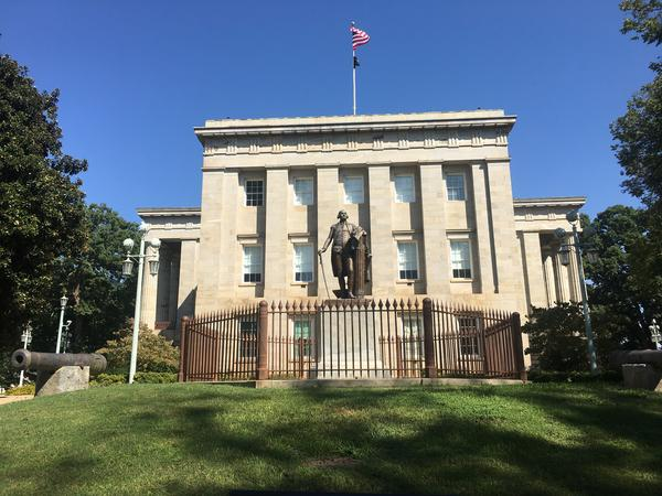 This bronze statue is one of six cast by William J. Hubbard of Richmond, Virginia, from a mold of Houdon's Washington which stands in the Capitol in Richmond