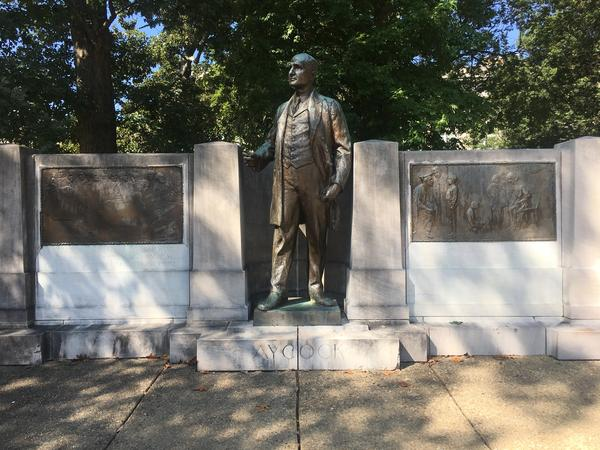 """Known as the """"education governor,"""" Charles Brantley Aycock was responsible for beginning the public school system existing today in North Carolina. It is said that one new school was opened for nearly every day of his term, 1901-1905."""