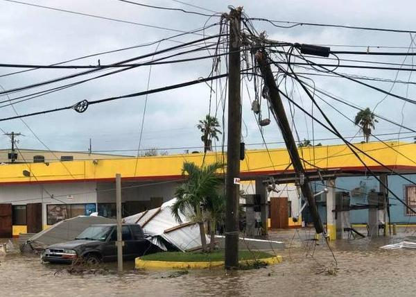 A St. Croix gas station after Hurricane Maria.