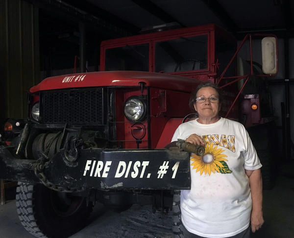 Montra Beeler may not be all that all, but she fills a huge role in the understaffed fire department in Cedar Vale, Kansas.