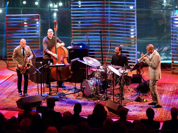 Joshua Redman on saxophone, Scott Colley on bass, Brian Blade on drums and Ron Miles on cornet perform at Jazz at Lincoln Center.