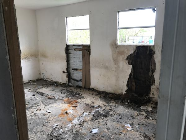 This was the master bedroom, which has been gutted.