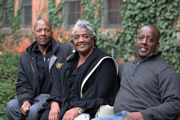 (Left to right) William Washington, Lizzie Young and Vincent Washington.