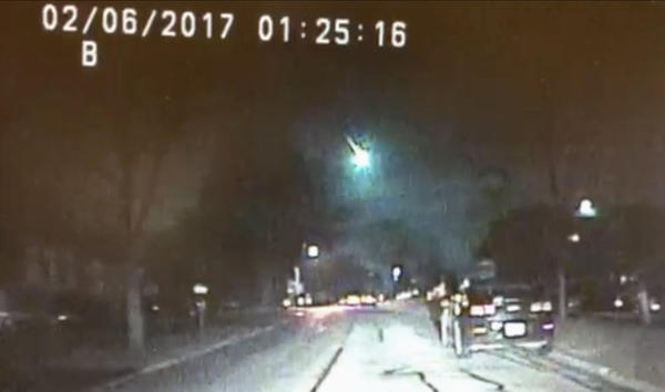 """It Fell from the Sky"" -- In early 2017, a fireball from a falling meteor set off sonic booms that shook houses in Wisconsin."