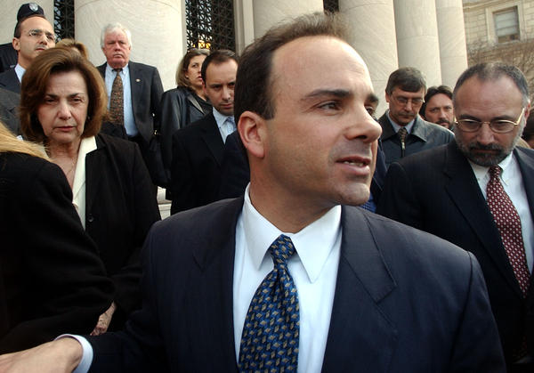 Bridgeport Mayor Joe Ganim leaving U.S. District Court in New Haven, Conn., in 2003 after he was found guilty on 16 of 21 federal corruption charges.