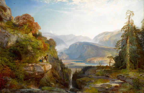 """""""The Last Arrow,"""" by Thomas Moran, slated for sale by the Berkshire Museum."""