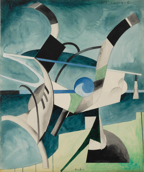 """""""Force Comique,"""" by Francis Picabia, slated for sale by the Berkshire Museum."""