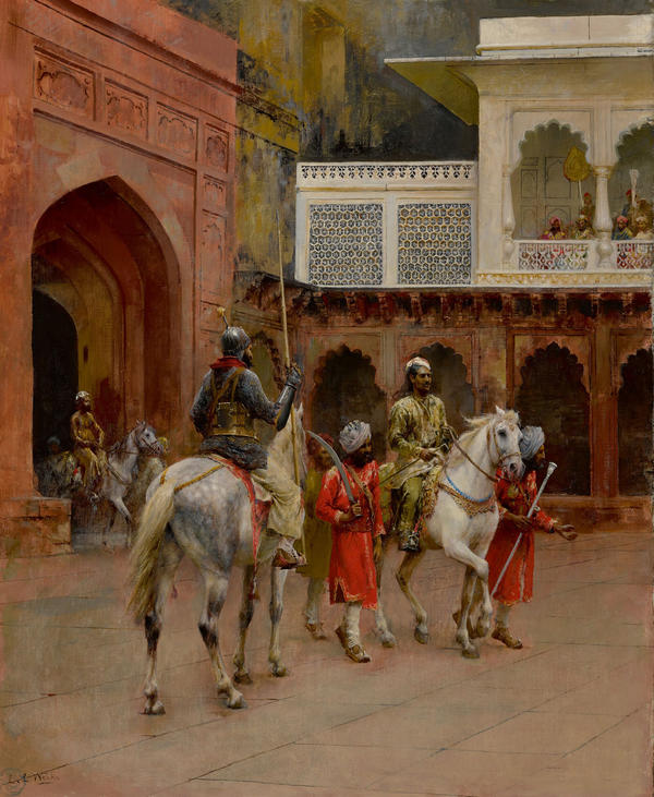 """""""Indian Prince, Palace of Agra,"""" by Edwin Lord Weeks, slated for sale by the Berkshire Museum."""