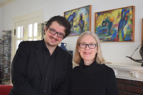 Domenico Boyagian and Margaret Brouwer, conductor and composer for Voice of the Lake
