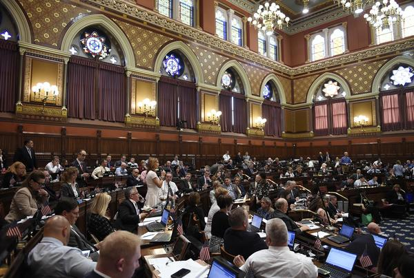 House Minority Leader Themis Klarides, R-Derby, speaks to the House on the final day of session at the State Capitol in June in Hartford.