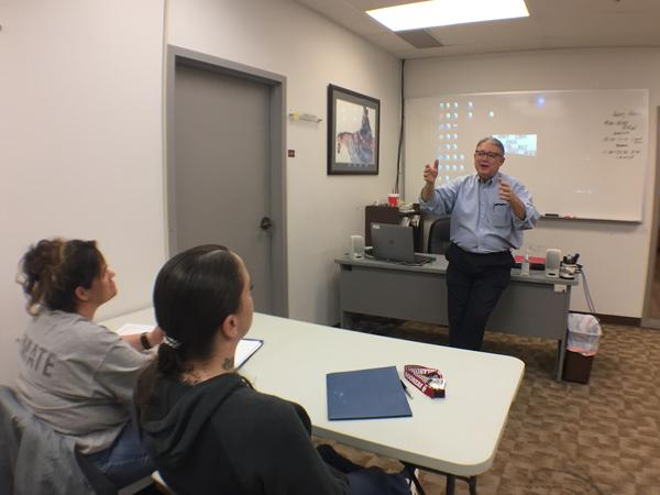 Andy Hall welcomes Oklahoma inmates to workplace transition classes at The Education and Employment Ministry in Oklahoma City.