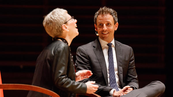 In celebration of <em>Fresh Air</em>'s 30th anniversary, Seth Meyers joined Terry Gross for a taping in front of a live audience on June 9, 2017, in Philadelphia, Pa.