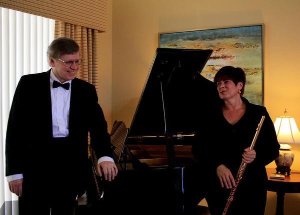 Pianist Vytas Baksys and Flutist Linda Bento-Rei