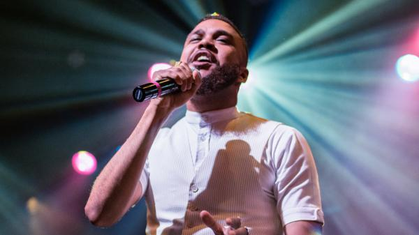 Jidenna performs live at WXPN's Free At Noon concert at World Cafe Live in Philadelphia.