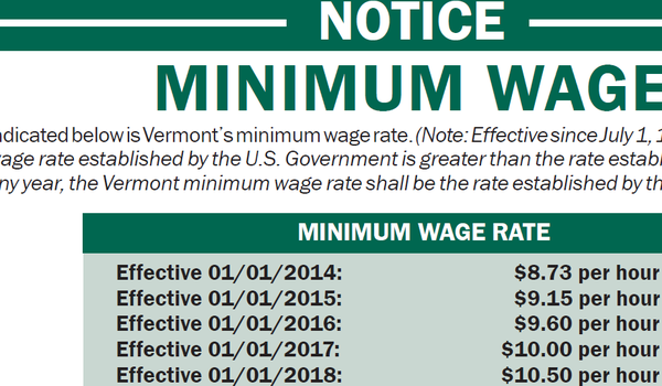 A poster produced by the Vermont Department of Labor.
