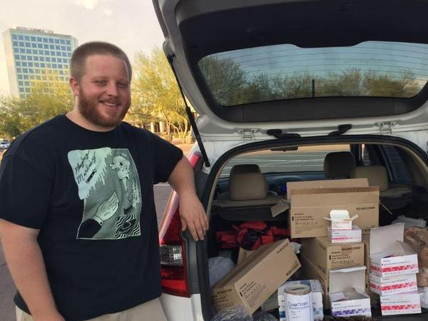 George Patterson is one of the volunteers who run Phoenix's only syringe exchange program, a mobile program called Shot in the Dark.