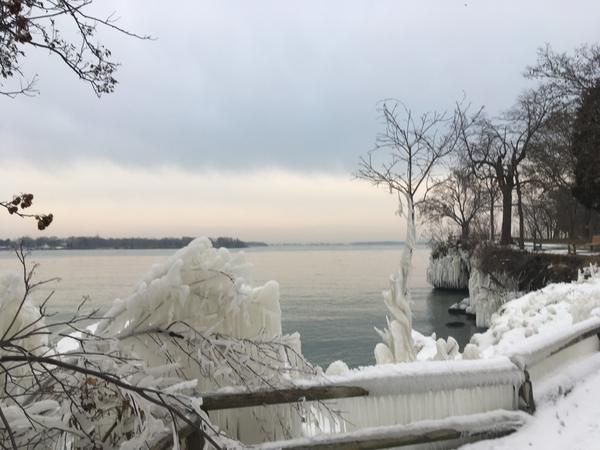 Lake Erie in winter.