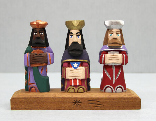 A representation of Los Tres Reyes from Puerto Rico. Three Kings Day is an important celebration among Latino families in the U.S., and is both a religious and cultural celebration.