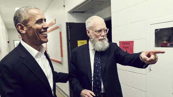 David Letterman interviews former President Barack Obama on <em>My Next Guest Needs No Introduction with David Letterman</em>.