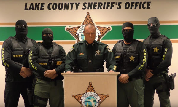 In a recent YouTube public service announcement, Lake County, Fla. Sheriff Peyton Grinnell warns heroin dealers they could be charged with murder if their buyers overdose.
