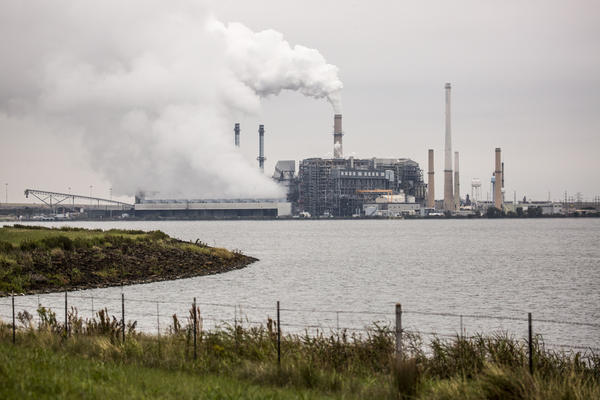 The Sandow Power Plant outside of Rockport closed this week. The plant's closure marks the third shuttering of a coal-powered plant in Texas in the last few months.