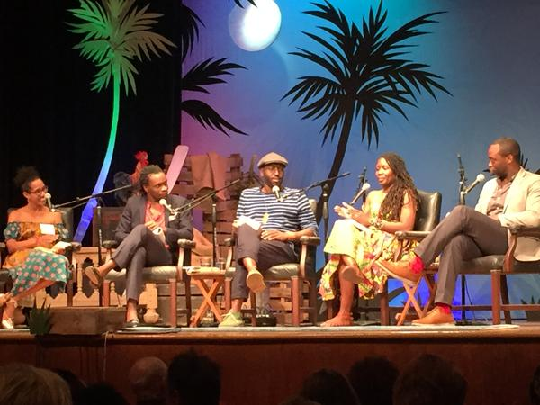 Caribbean authors reading the work of the late Nobel poet and Saint Lucia native Derek Walcott at last weekend's Key West Literary Seminar.