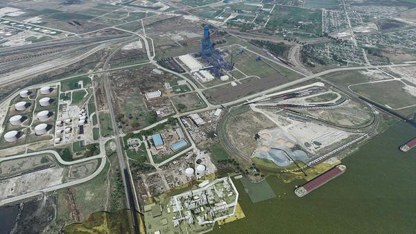 Render of future site at Port of Toledo