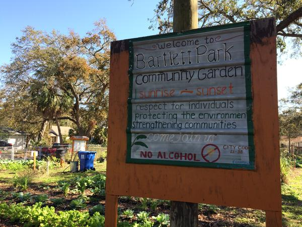 The Bartlett Park Community Garden is in the heart of a residential community in south St. Petersburg.
