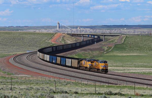 A coal train in the Powder River Basin
