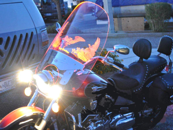 <p>Illumatek makes windshields that are engraved and lit with fiber optics so motorcycles are more visible on the road. Its founder worked with VETransfer, a nonprofit that connects veteran entrepreneurs with funding and business skills.</p>