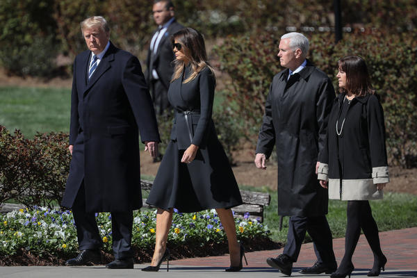 President Donald J. Trump, First Lady Melania Trump, Vice President Mike Pence, and Second Lady Karen Pence attended Billy Graham's funeral Friday March 2, 2018.